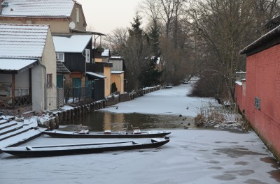 die Spree im Winter